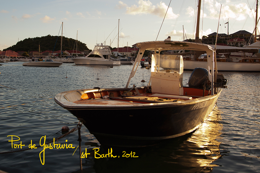 Postcards from St Barth, Port de Gustavia, The French Dilettante