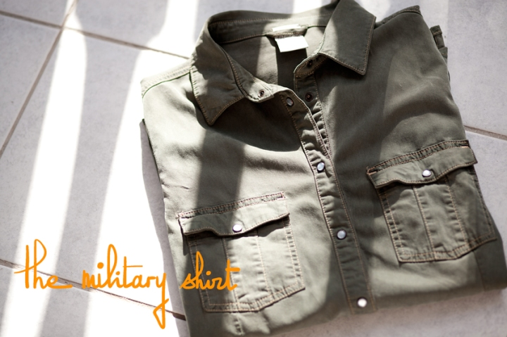 Army shirt, Chemise militaire, A Piece of Glam