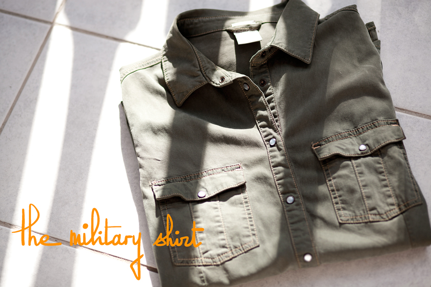 Army shirt, Chemise militaire, The French Dilettante