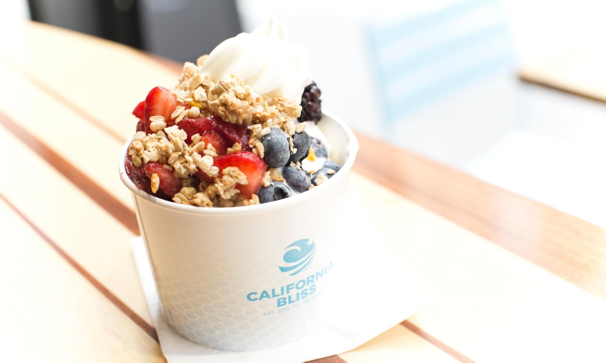 California Bliss frozen yoghurt