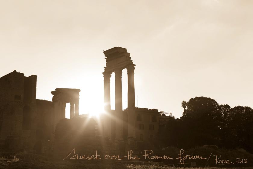 Rome, Italie, Postcards, Sunset, Coucher de soleil