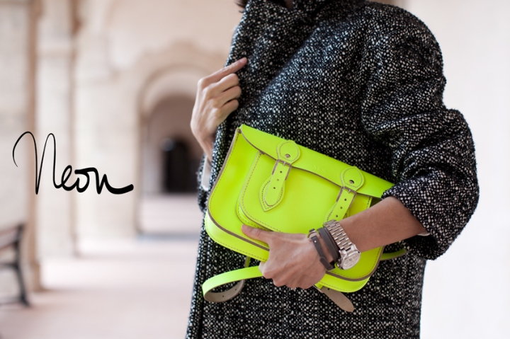 The Leather Satchel Company, Neon Satchel, A Piece of Glam