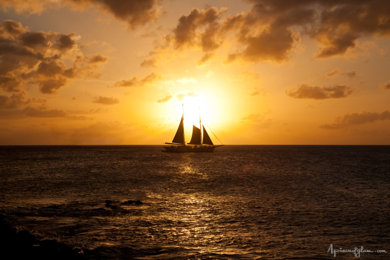 Sunset, Caraïbes, The French Dilettante