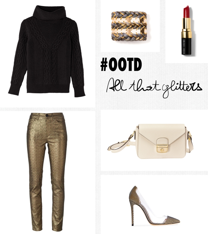 A Piece of Glam, All that glitters, #OOTD